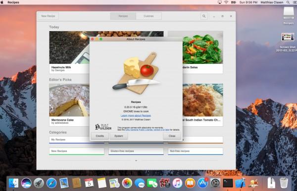recipe On macOS
